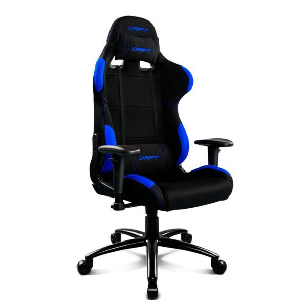 Gaming Chair DRIFT DR100BL 90-160º Cloth Foam Black Blue