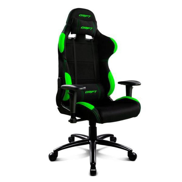 Gaming Chair DRIFT DR100BG 90-160º Cloth Foam Black Green