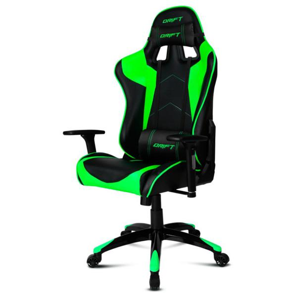 Gaming Chair DRIFT DR300BG 90-160º Foam Black Green