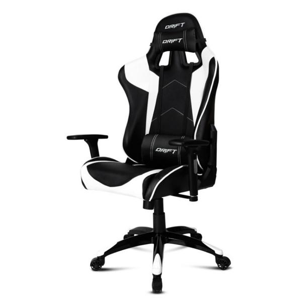Gaming Chair DRIFT DR300BW 90-160º Foam White Black