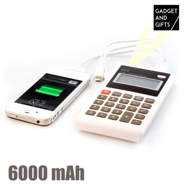 Powerbank Rekenmachine 6000 mAh