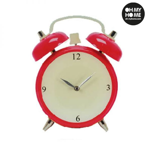 Alarm Clock Glass Wall Clock