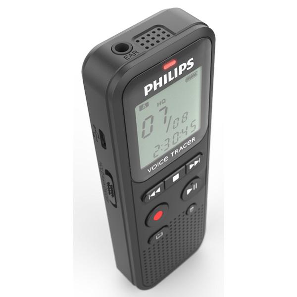 Recorder Philips DVT1115 3.5 mm USB 4 GB Grey