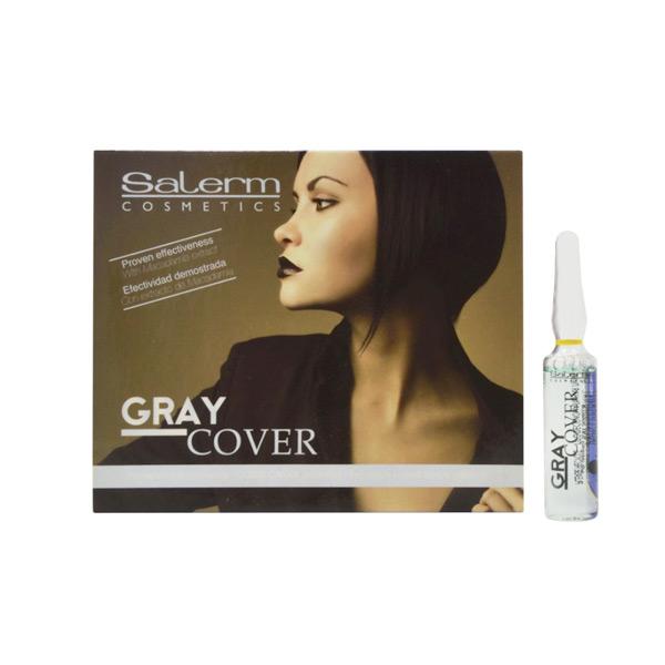 Ampule za Prekrivanje Sivh Las Gray Cover Salerm (5 ml)