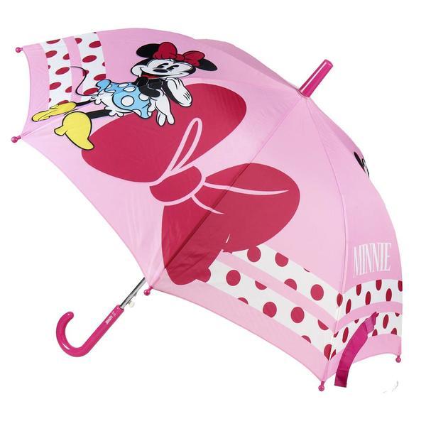 Automatic Umbrella Minnie Mouse Disney Pink (Ø 45 cm)