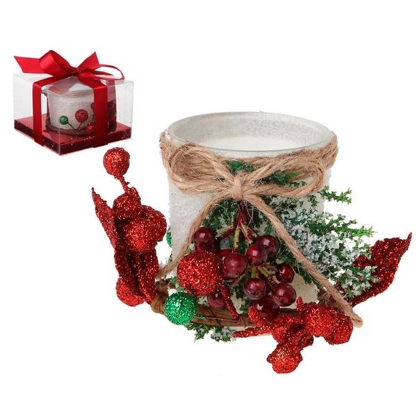 Candleholder Crystal White