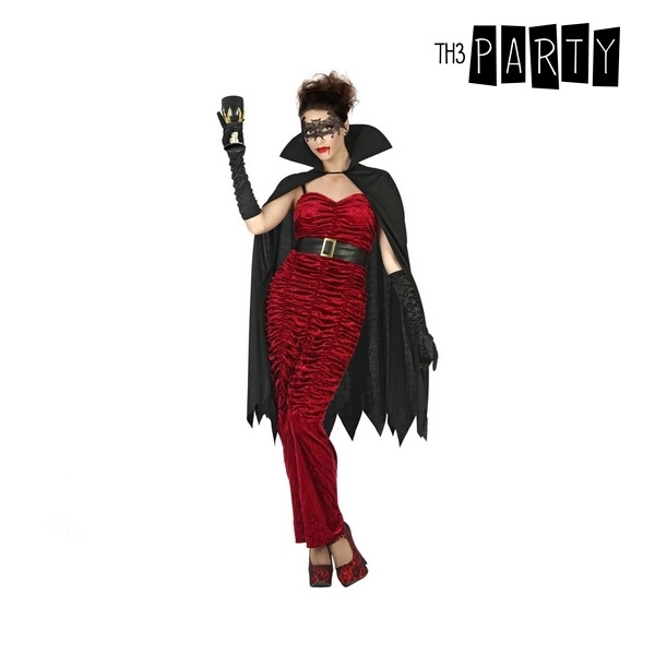 Costume for Adults Female vampire with cape Black (3 Pcs)