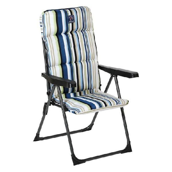 Beach Chair Steel Stripes (68 x 58 x 107 cm)