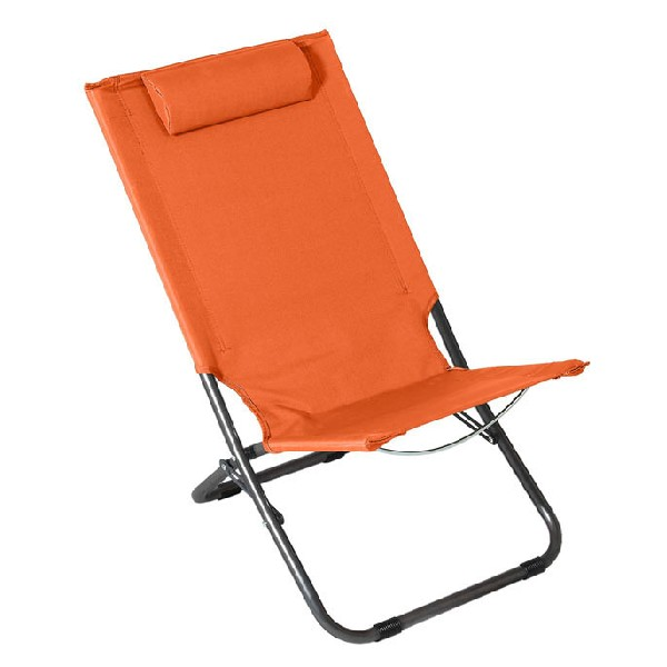 Beach Chair Steel Orange (62 x 48,5 x 28/72)