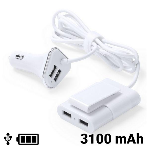 Cargador USB para Coche 4 Puertos 3100 mAh 145209