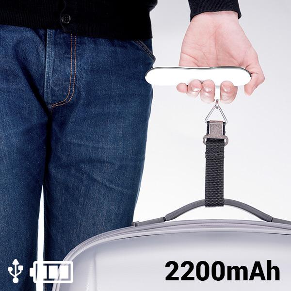 Báscula para Maletas con Power Bank 2200 mAh 145336