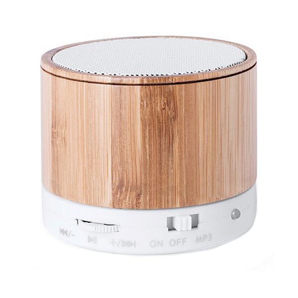 Altavoz Bluetooth Inalámbrico USB FM 3W Bambú 146143