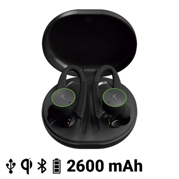 Auriculares Deportivos con Micrófono KSIX Sports Buds 400 mAh Negro