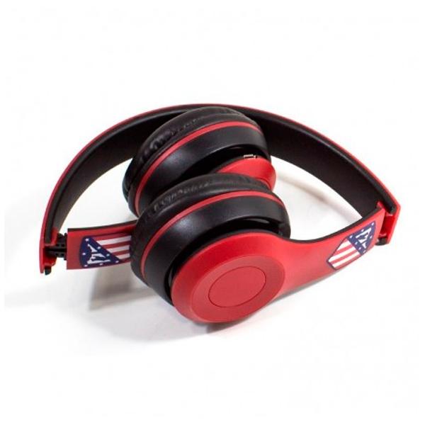 Foldable Headphones Atlético Madrid Bluetooth Red