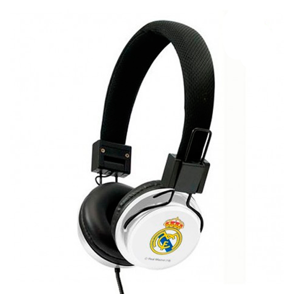 Auriculares de Diadema Real Madrid C.F. Blanco Negro
