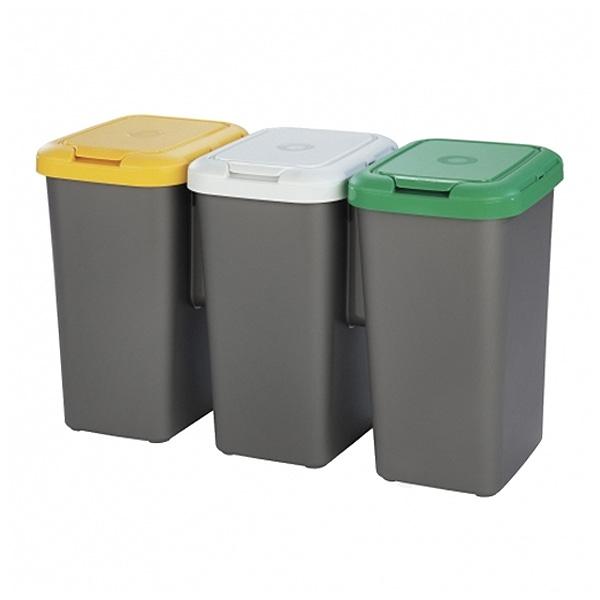 Poubelle recyclage Tontarelli Plastique Gris (77 X 32 x 47,5 cm)