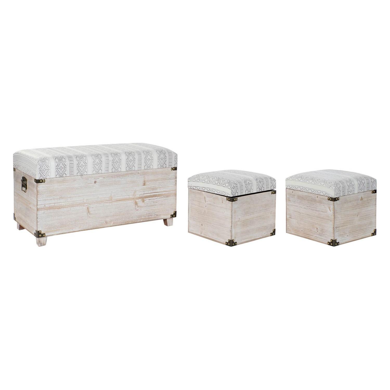 Chest DKD Home Decor Polyurethane Wood (3 pcs)
