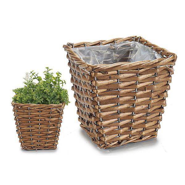 Basket wicker Plastic (15 x 13 x 15 cm)