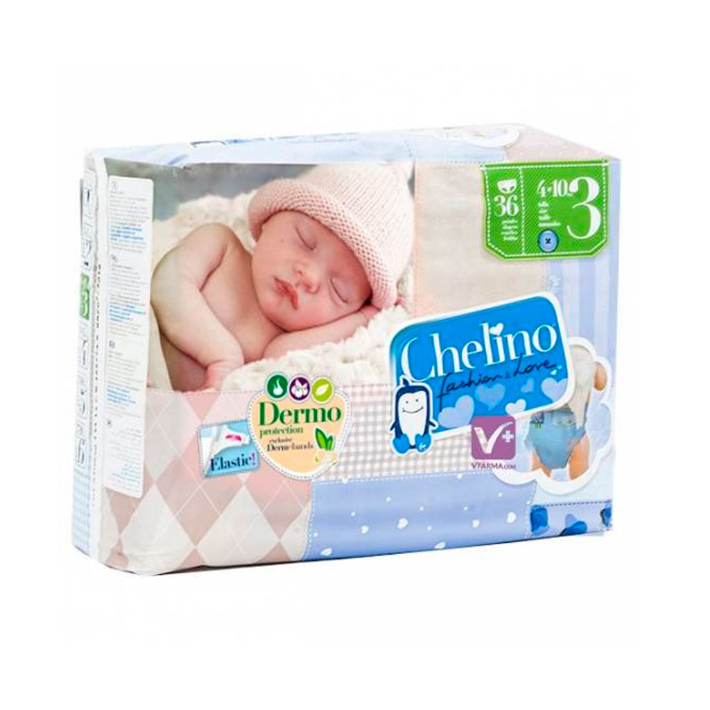 Disposable nappies Chelino (36 uds)