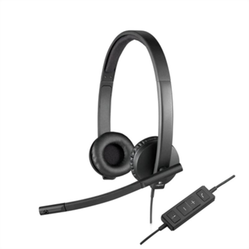 Headphones with Headband Logitech H570e Black