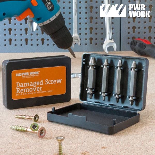 PWR Work Damaged Screw Extracting Drill Bits (pack of 4)