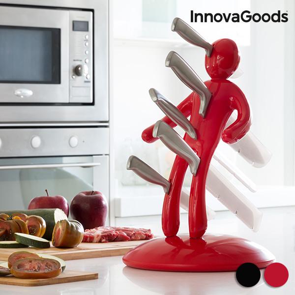 Knivar med knivställ Vudú Premium InnovaGoods (6 delar)
