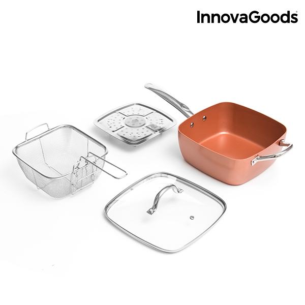 Set de Sartén Multifunción 5 en 1 Copper InnovaGoods (4 Piezas) (6)
