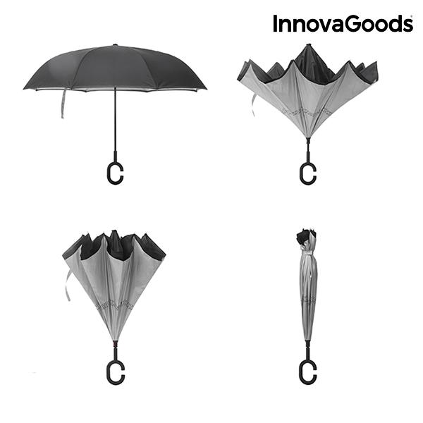 Paraguas de Cierre Inverso InnovaGoods (2)