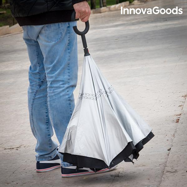 Paraguas de Cierre Inverso InnovaGoods (1)