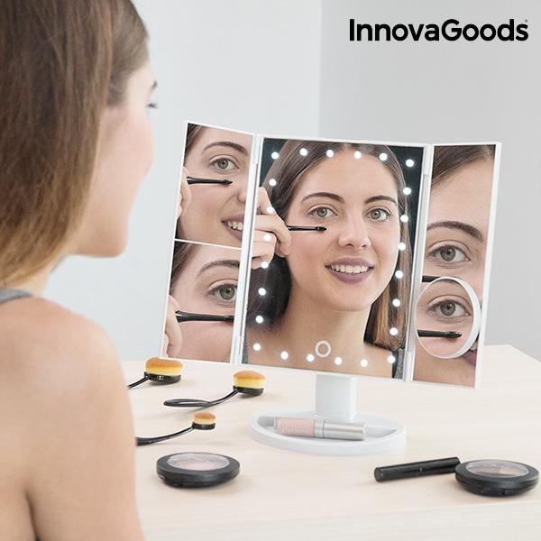 InnovaGoods 4 i 1 Förstoringsspegel med LED-belysning
