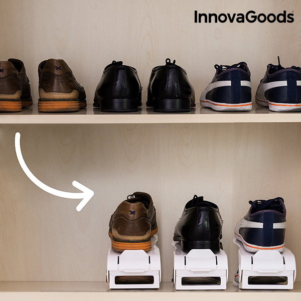 Organizador de Zapatos Regulable Shoe Rack InnovaGoods (6 Pares)