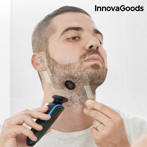 Plantilla para Afeitado de Barba Hipster Barber InnovaGoods (5)