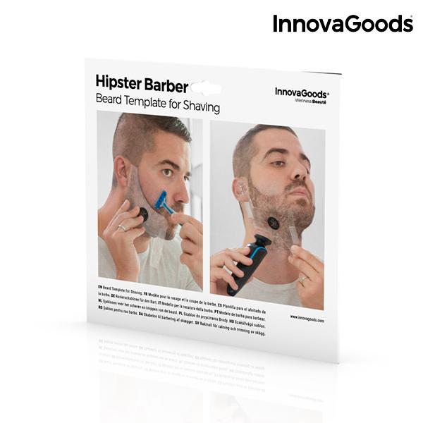 Plantilla para Afeitado de Barba Hipster Barber InnovaGoods (1)