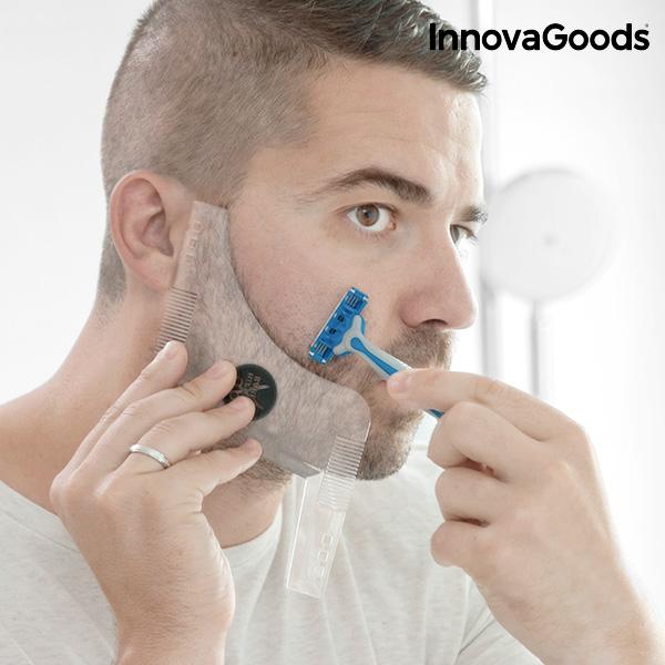 Plantilla para Afeitado de Barba Hipster Barber InnovaGoods