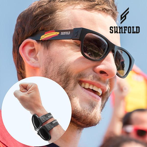 Black Sunfold Spain Roll-Up Sunglasses