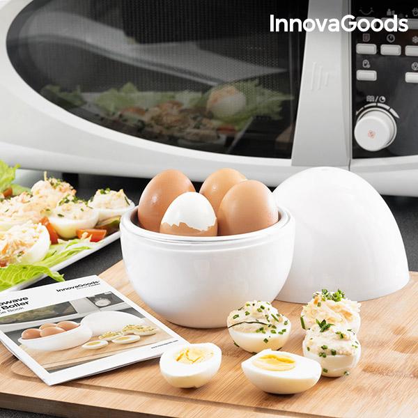 Cuecehuevos para Microondas con Recetario Boilegg InnovaGoods