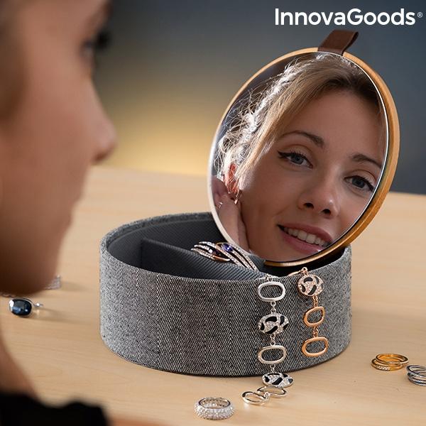 Bamboo Organiser Jewellery Box with Mirror Mibox InnovaGoods