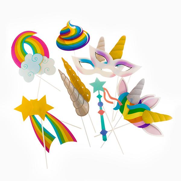 Accesorios para Photocall UnicornTh3 Party (Pack de 12) (1)