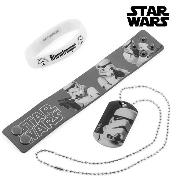 Stormtrooper Bracelets and Necklace (Star Wars)