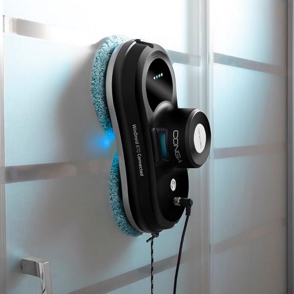 Inteligentný Robotický Čistič Okien Cecotec WinDroid 870 Connected 80W Čierna