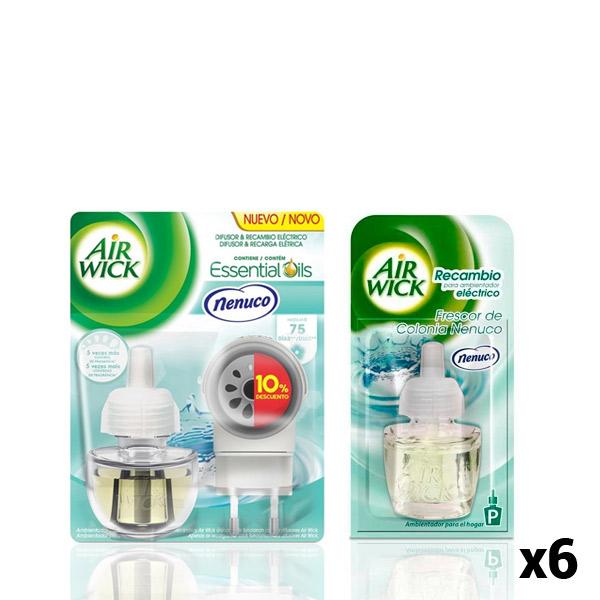 Pack Ambientador Eléctrico + 6 Recambios Air Wick Nenuco