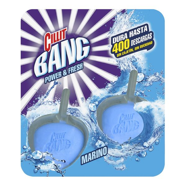 Colgador para Inodoro en Pastillas Marino WC Power & Fresh Cillit Bang (Pack de 2)