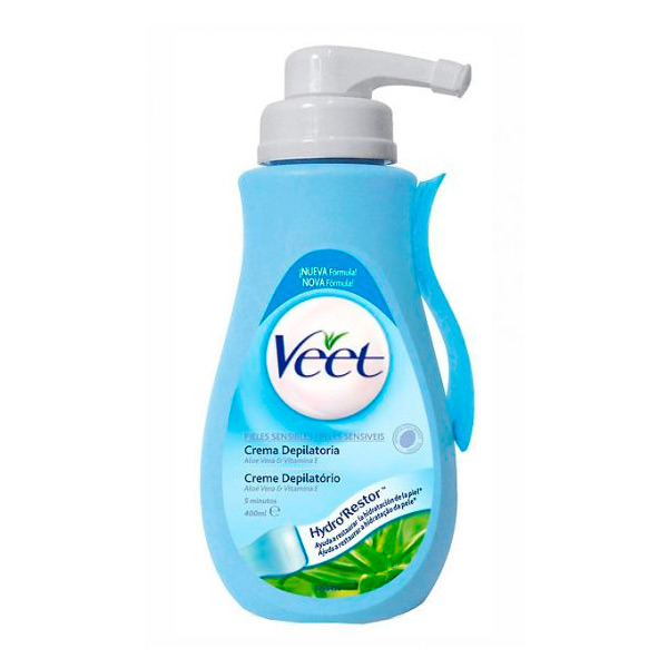 Crema Depilatoria con Dosificador Piel Normal y Seca Veet 400 ml