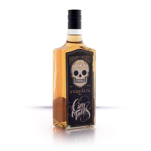 Cien Malos Golden Tequila