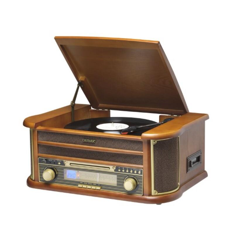 Record Player Denver Electronics MCR-50MK3 USB 5W Wood