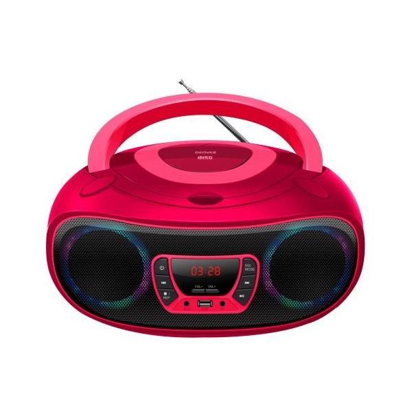 Radio CD Bluetooth MP3 Denver Electronics TCL-212MT 4W Pink