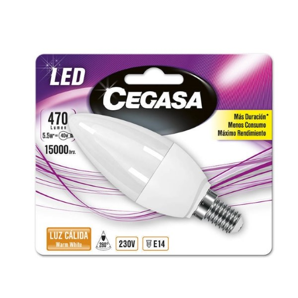 Candle LED Light Bulb Cegasa E14 5,5 W A+