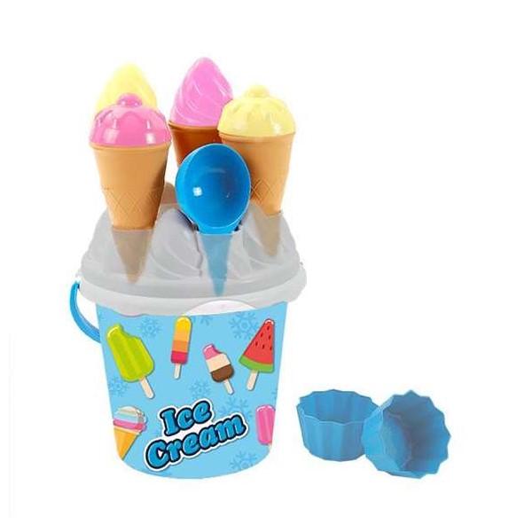 Beach Bucket Ice Cream Blue