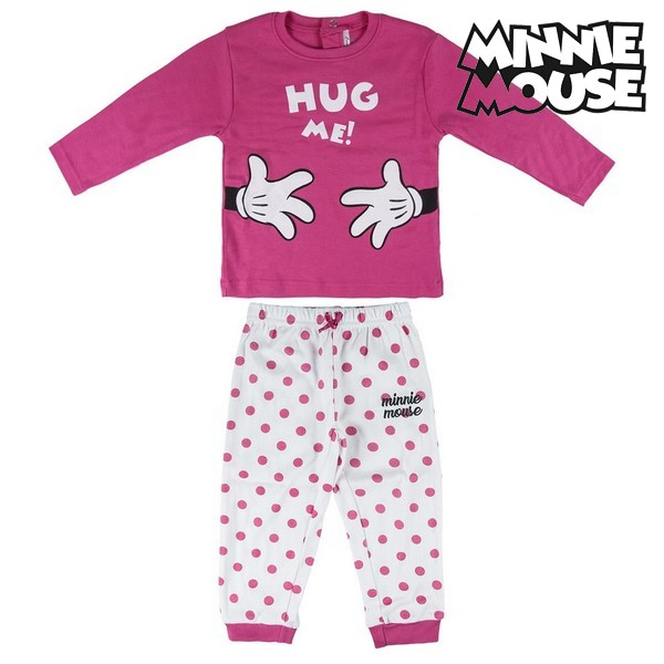 Baby Pyjamas Minnie Mouse 7672 Fuchsia White