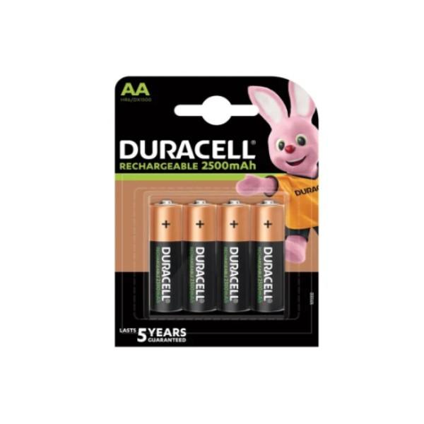 Rechargeable Batteries DURACELL DURDLLR6P4B AA NiMh 2500 mAh (4 pcs)